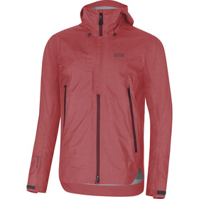 GORE WEAR H5 Gore-Tex Active Chaqueta con capucha Hombre, red/chestnut red